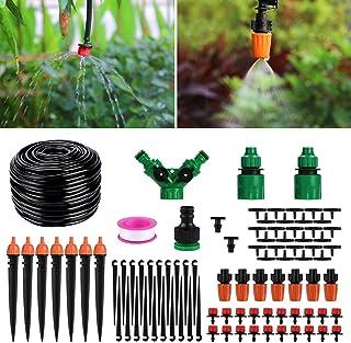 comprar comparacion Aiglam Sistema de riego de jardín, Micro Kit de riego por Goteo Riego automático Rociadores automáticos Kit de riego por G...