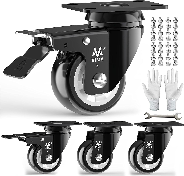 Heavy Duty Plate Caster Wheels 3