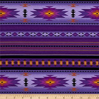 Elizabeth Studios Tucson Stone Purple Fabric By The Yard