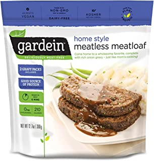 Gardein Meatless Meatloaf, Protein Packed Beef Replacement, Contains Sauce Packet, 12.7 Ounce (Frozen)