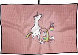 HZamora Funny Unicorn Microfiber Golf Towel Sport Towel for Workout Gym Fitness Yoga Camping Hiking Bowling Travel Outdoor 15