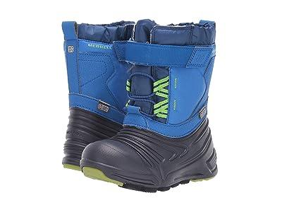Merrell Kids Snow Quest Lite 2.0 Jr Waterproof (Toddler) (Blue) Boys Shoes