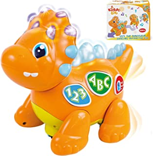 Izzy The Dinosaur: Dancing Interactive Extra Cute Music Toy. Light-Up Walking Robot Dinosaur / Animal Learning Dino Toy fo...