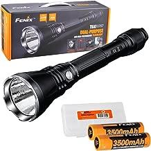 Fenix TK47UE Ultimate Edition 3200 Lumen LED Tactical Flashlight w/ 2X High Capacity 3500mAh Batteries and LumenTac Battery Organizer