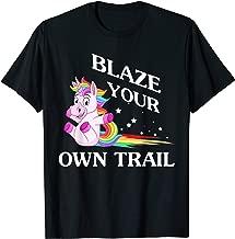 Unicorn Funny T-Shirt Blaze Your Own Trail Magical Unicorn T