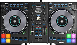 Hercules DJ Control Jogvision DJ Software Controller includes Free Wireless Earbuds - Stereo Bluetooth In-ear and 1 Year Everything Music Extended Warranty