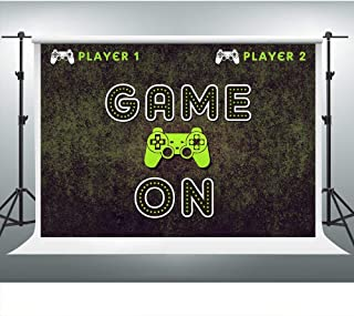 Video Game On Backdrop for Boy Gaming Themed Birthday 7x5ft Xbox Party Photo Background Birthday Party Decorations LSVV833