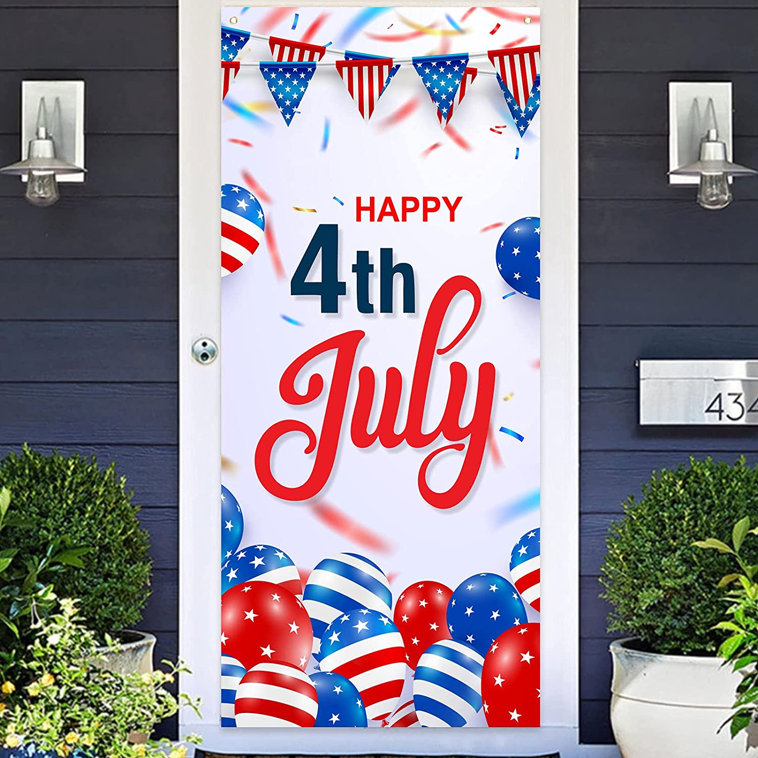 Happy 4th of July Banner Backdrop Red Quantity limited White B Blue New Shipping Free Shipping Stripes Stars