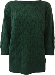 LA FEE MARABOUTEE Maglia Donna Mohair Verde MOD FB5197 Made in Italy