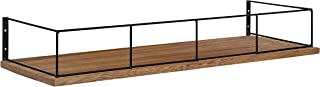 Kate and Laurel Benbrook Rustic Shelf for Wall, 24 inch x 8 Inch, Rustic Wood and Black, Vintage Farmhouse-Inspired Wall Storage
