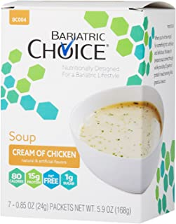 Bariatric Choice High Protein Soup Mix / Low-Carb Diet Soup - Cream of Chicken (7 Servings/Box) - Fat Free, Low Carb, Sugar Free