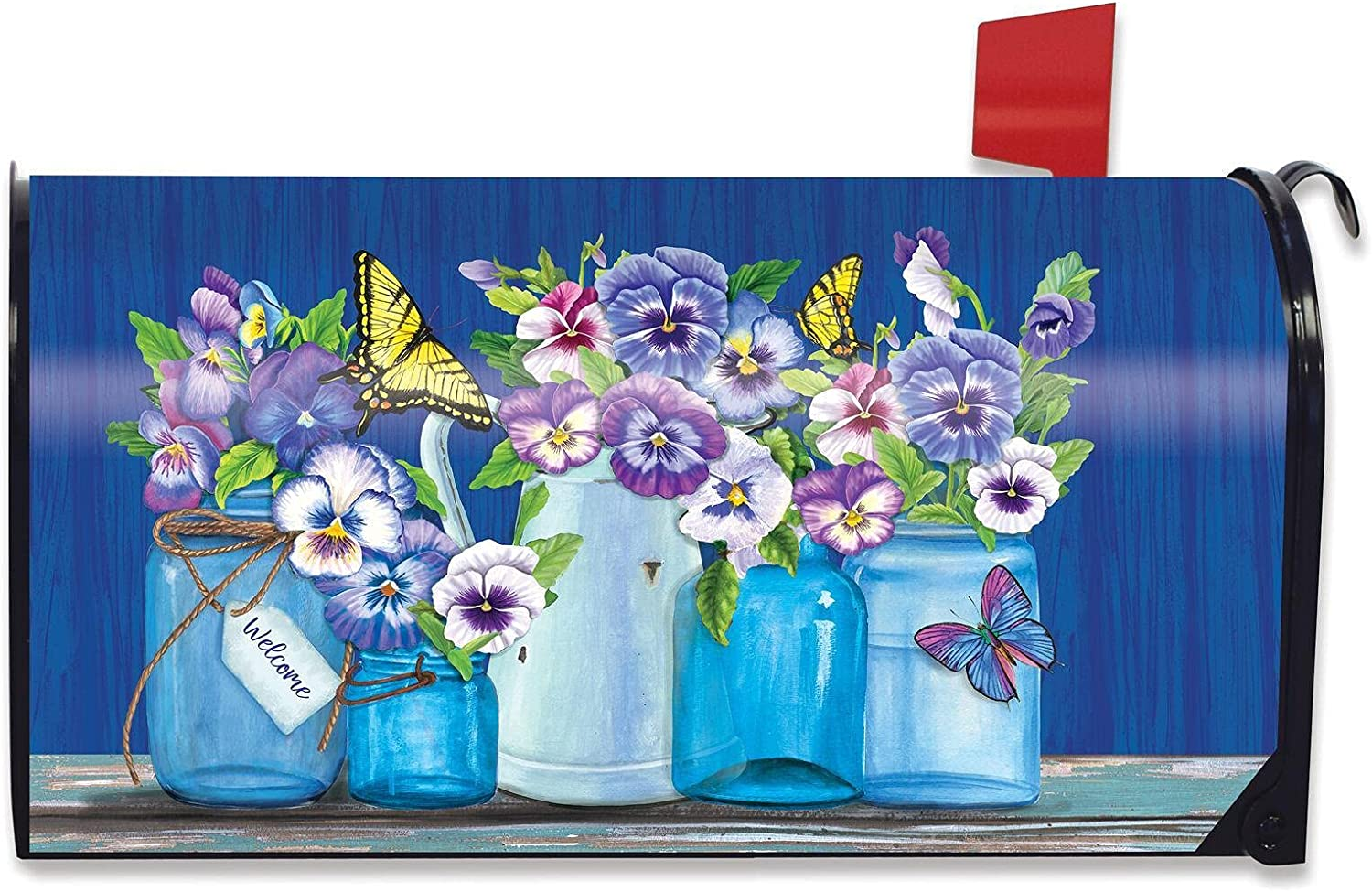 Spring new Now free shipping work Mailbox Cover Floral Standard Decor for Garden Mai