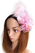 Coolwife Fascinators Womens Feather Headwear 1920s Hairclips for Bridal Derby Tea Party