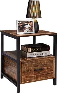 Best nightstand wood and metal Reviews