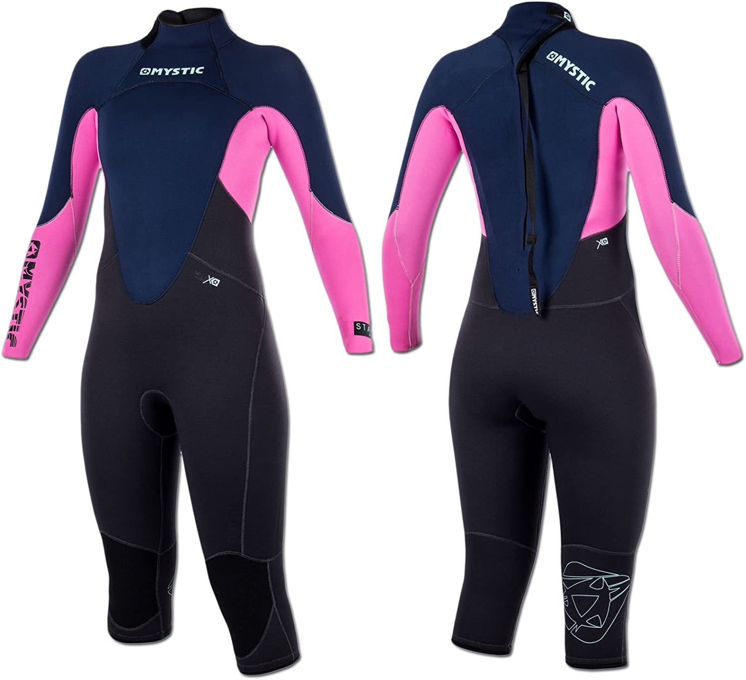 Mystic WatersportsSurf KiteSurf & Windsurfing Star Womens 4 3mm Short Leg Steamer Wetsuit NavyEasy Stretch