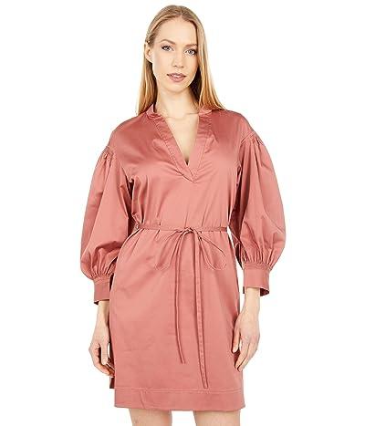Rebecca Taylor 3/4 Sleeve Belted Dress