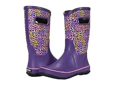 Bogs Kids Rain Boots Leopard (Toddler/Little Kid/Big Kid) (Purple Multi) Girls Shoes