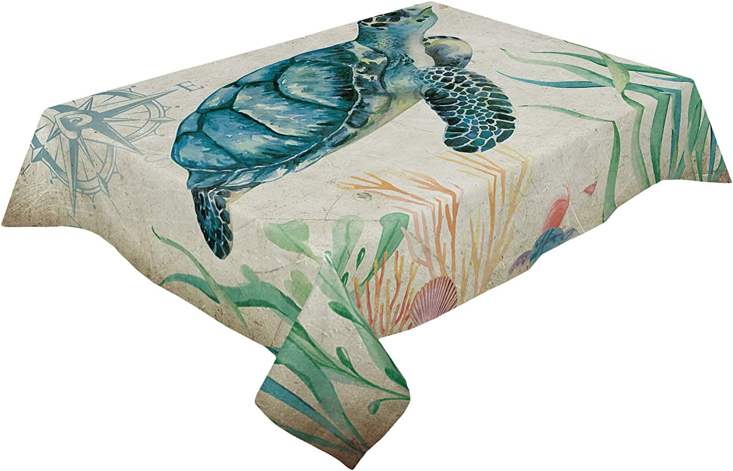 Table New sales Clothes for Rectangle Tables Turtle C Ocean Theme Our shop OFFers the best service 60x162in