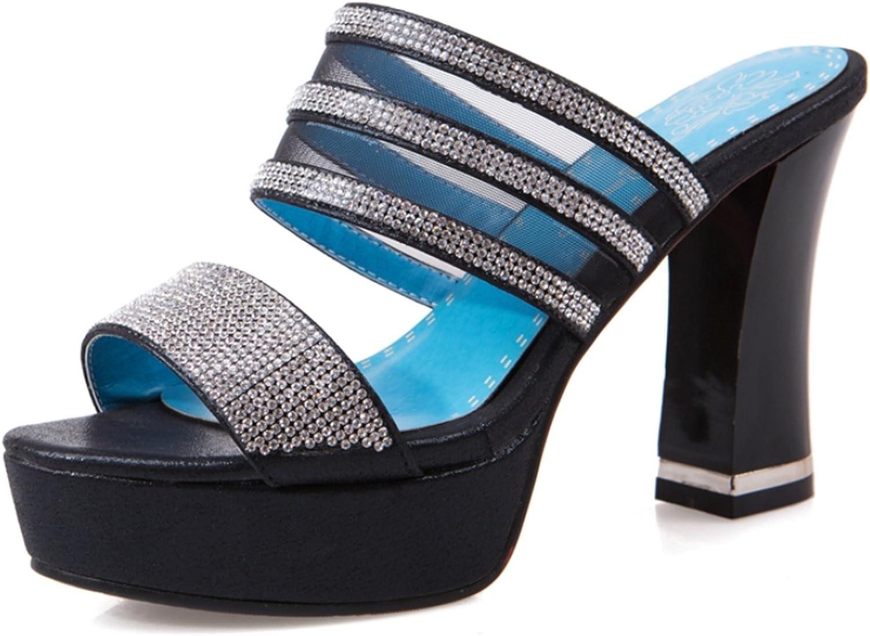 Nerefy Big Size 32-43 Platform Crystals Leisure Women shoes Sexy High Heels Outdoor Women Mules Pumps