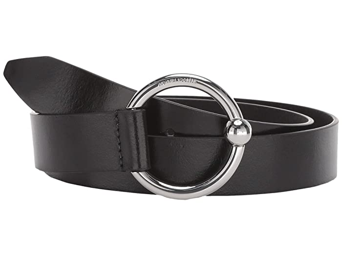 Rebecca Minkoff 31 mm O-Ring Belt (Black) Women