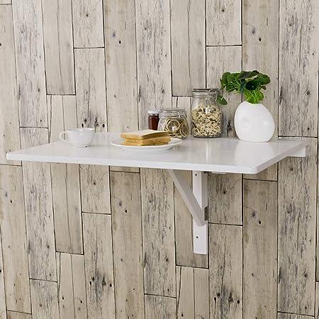 Costway Tavolino Pieghevole Da Muro Tavolo Porta Pc Da Parete In Legno 80 X 60 X 45 Cm Bianco Amazon It Casa E Cucina