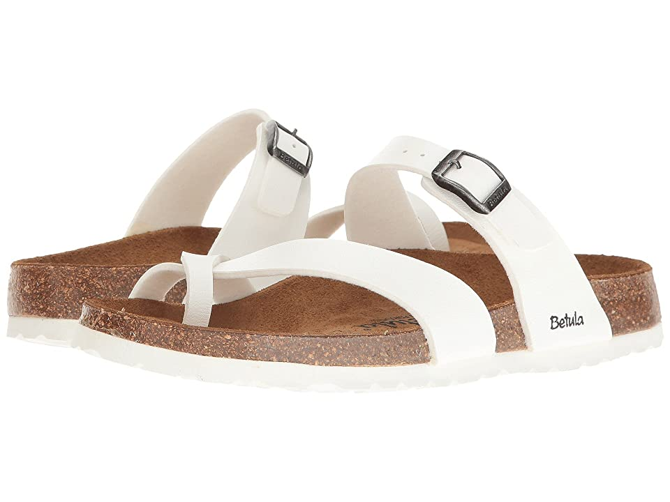 Betula Licensed by Birkenstock Mia Birko-Flortm (Basic White) Women