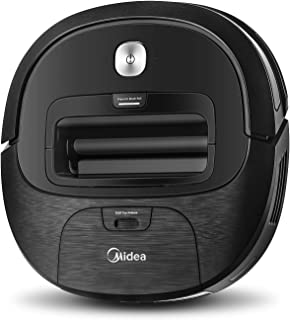 Midea Robot Vacuum Cleaner VCR20B with 2000 Pa High Suction Motor Power, 3 Cleaning Modes, Virtual Wall Technology, Schedu...