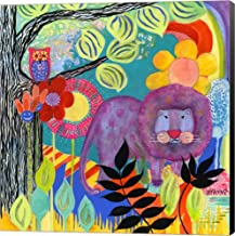 Dandy Lion by Wyanne Canvas Art Wall Picture, Museum Wrapped with Black Sides, 14 x 14 inches