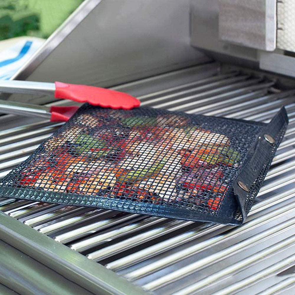 Filet de sac de barbecue Sac de filet de barbecue antiadhésif, sac de barbecue de filet antiadhésif réutilisable et facile à nettoyer black-40x27cm