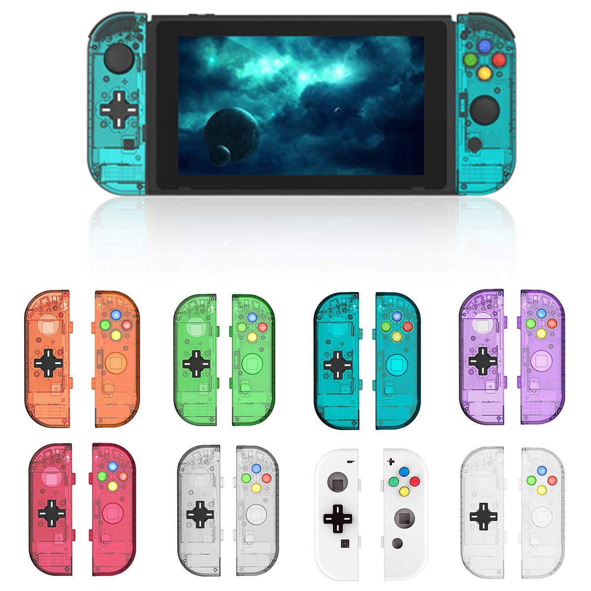 MYAMIA Manijas Carcasa Protectora Accesorios De Repuesto Protectores para Nintendo Switch Joy-con Controller-Azul: Amazon.es: Hogar