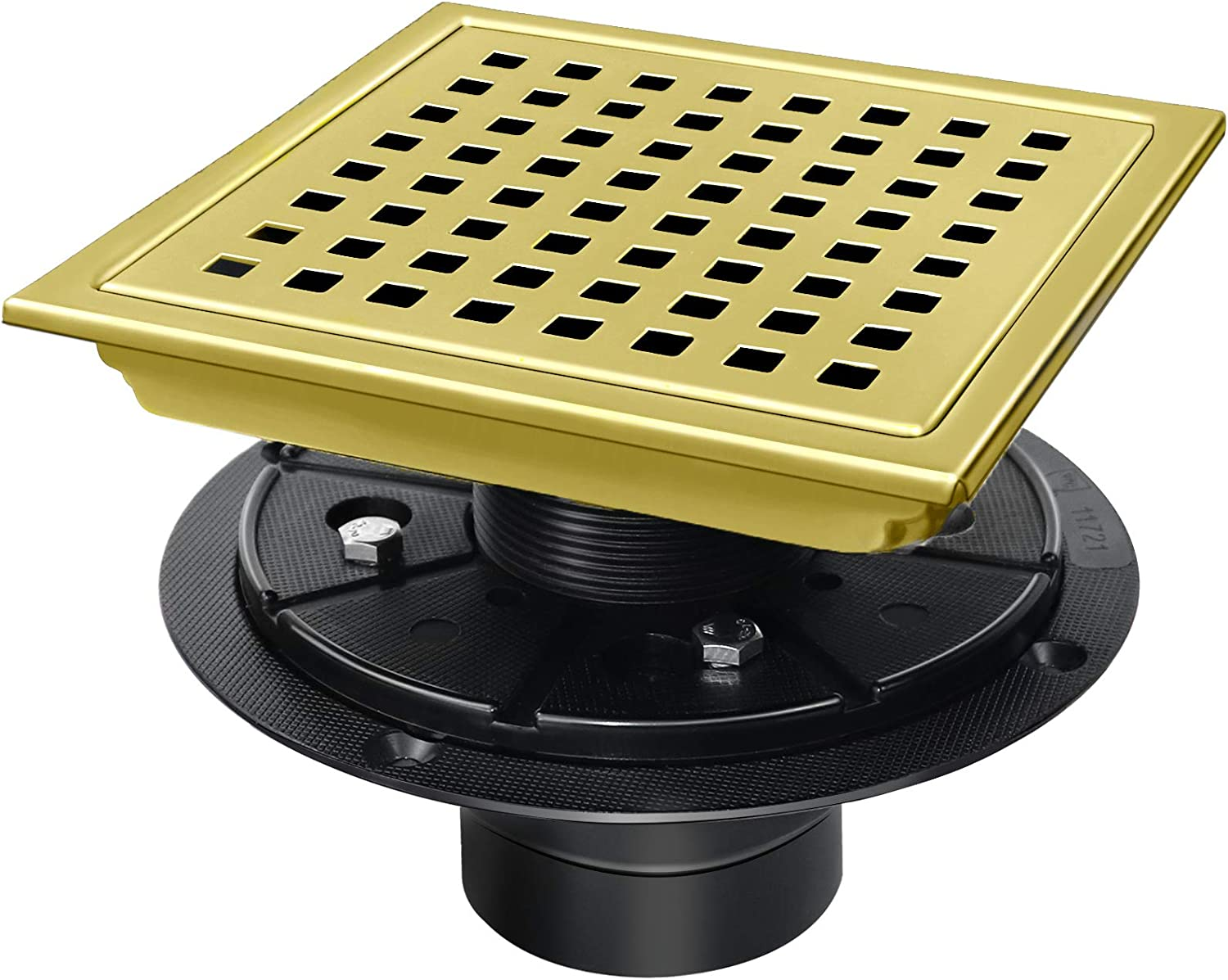 6 inch Gold Ranking integrated 1st place Max 48% OFF Shower Drain with Squ Stainless SUS304 Steel Flange