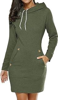HenzWorld - Vestido clásico para mujer, estilo clásico, con mangas 3/4, con cremallera en la parte trasera y cuello en V, ...