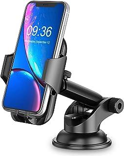 Cocoda Supporto Smartphone per Auto, Cruscotto/Parabrezza Porta Cellulare da Auto, 360° di Rotazione Braccio Estensibile S...