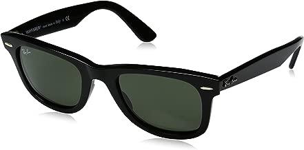 Ray-Ban RB2140 Wayfarer Sunglasses, Black/Green, 50 mm