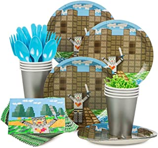 Medieval Party Supplies Standard Kit (Serves 8) - Includes Plates, Cups, Napkins, and Cutlery
