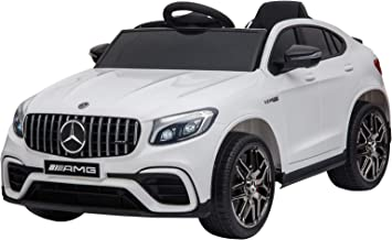 Aosom 12V Ride On Toy Car for Kids with Remote Control, Mercedes Benz AMG GLC63S Coupe, 2 Speed, with Music, Electric Ligh...