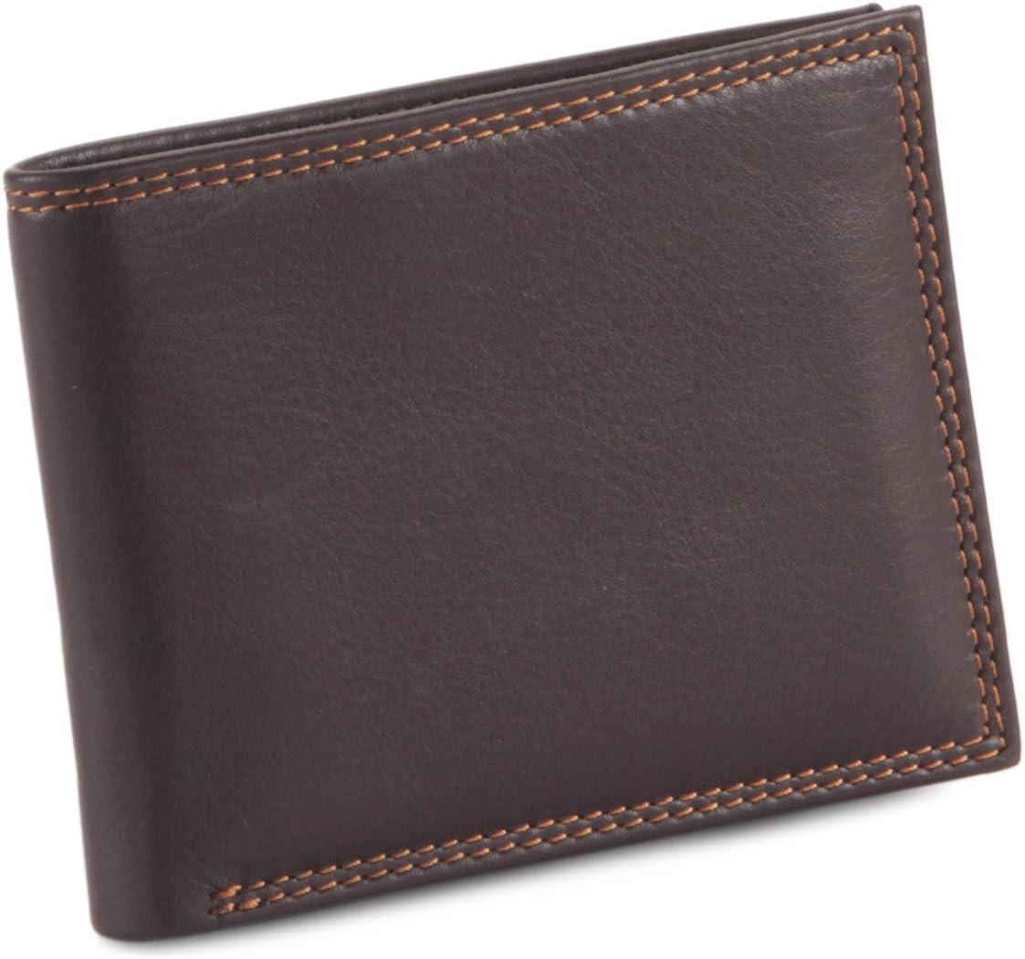 Style n Craft 300720-BR Brown Bi-Fold Slim Style Wallet