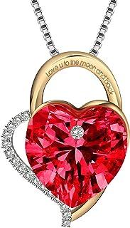 """Regalo San Valentino, Gioielli Donna Collana Cuore""""Ti amerò per sempre"""" con Cristalli di Swarovski Collana in Argento 925,..."""