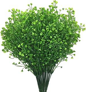 PASYOU Artificial Greenery, Plastic Plants Fake Bell Grass Flowers Lifelike Patio Yard Corridor Indoor Outdoor Home Garden...