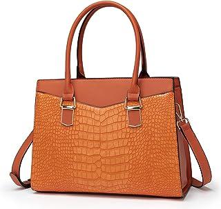 LJOSEIND Women's Handbags Designer Satchel Purse Structured Shoulder Bags Work Top Handle Bags Totes