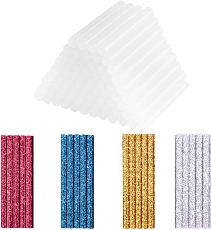 17 opinioni per 100 Stick Colla a Caldo Bastoni, 20 Stick Colorati Glitter + 80 Stick