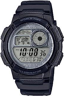 Casio Men's Quartz Watch with Resin Strap, Black, 19.4 (Model: AE-1000W-7AVCF)
