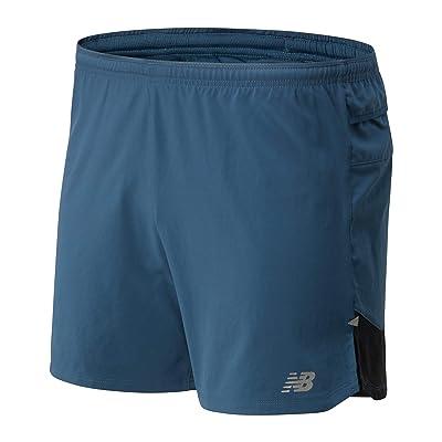 New Balance Impact Run 5-Inch Shorts (Stone Blue) Men