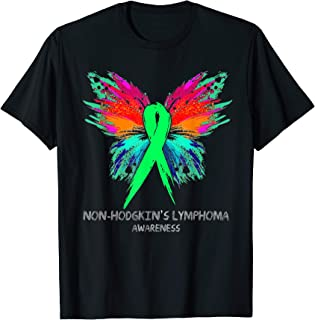 NON-HODGKIN'S LYMPHOMA Awareness butterfly Ribbon T-Shirt T-Shirt