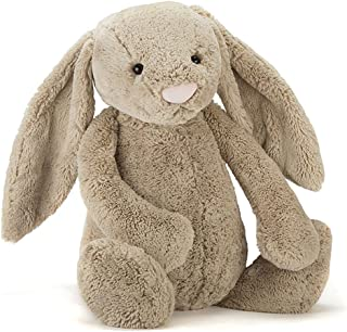 Jellycat Bashful Beige Bunny Stuffed Animal, Really Big, 31 inches