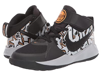 Nike Kids Team Hustle D 9 GRFT (Little Kid) (Black/Bright Ceramic/Metallic Silver) Kids Shoes