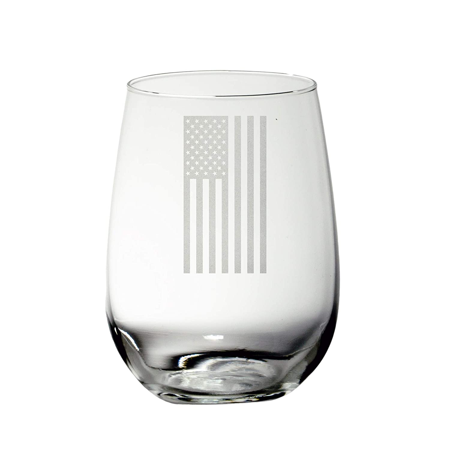 American Flag Max 63% OFF Stemless Wine discount Glass