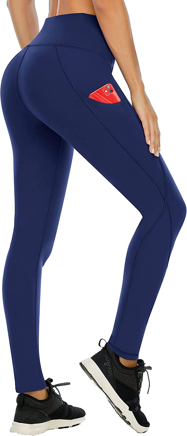 DORIC Yoga Pants Women Workout Out Pocket Leggings Fitness Sports Gym Running Athletic