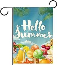 """Tuin Vlag Verticale Dubbelzijdige 28x40 """"Yard Outdoor Decoration.cool vector poster met zomer"""