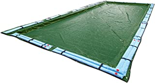 Buffalo Blizzard Supreme Plus Winter Cover for 16-Foot-by-32-Foot Rectangle In-Ground & Above-Ground Swimming Pools   Green/Black Reversible   5-Foot Additional Material